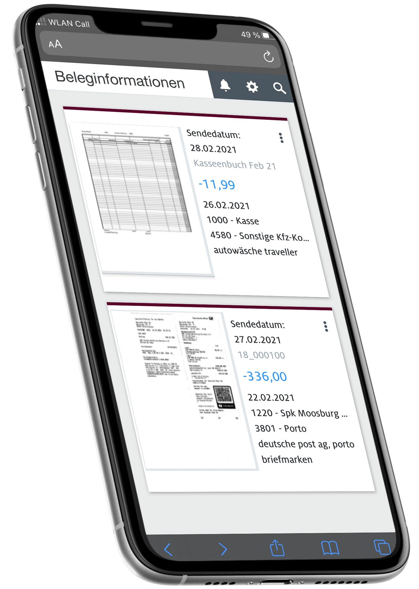 App für digitale Buchhaltung